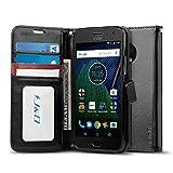 J&D Case Compatible for Moto G5 Plus Case, Wallet Stand Slim Fit Shock Resistant Flip Cover Wallet Case for Motorola Moto G5 Plus 5.2 inch Wallet, Not for Moto G5 5.0 inch/Moto G5S/Moto G5S Plus