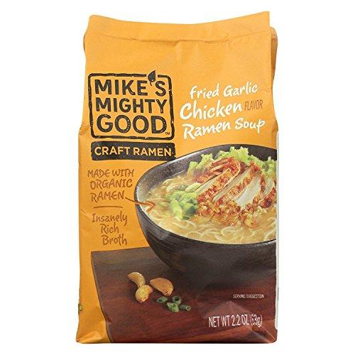 MIKE'S MIGHTY GOOD, Soup, Og3, Ramen, Gar Chickn, Pack of 7, Size 2.2 OZ, (70%+ Organic)