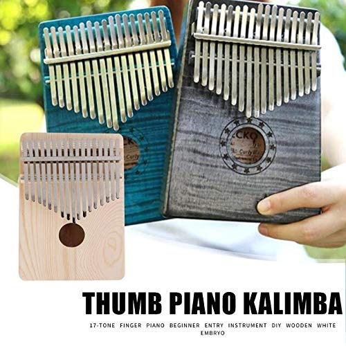 Fantastic Prices! Portable 17 Key Kalimba Thumb Finger Piano African DIY Wooden White Embryo Play Wi...