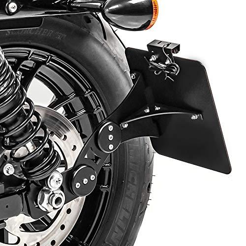 Support de Plaque latéral pour Harley Davidson Sportster 883 Iron 09-20 Noir