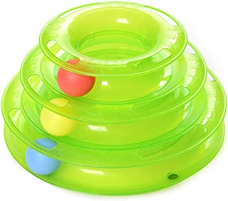 BOOB Three Levels pet cat Toy Tower Tracks Disc cat Intelligence Amusement Triple Pay disc cat Toys Ball Training Amusement Plate