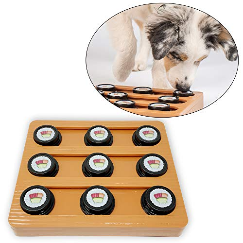 Our Pets Sushi Interactive Puzzle Game Dog Toys & Cat Toys (Dog Puzzle, Cat Puzzle & Interactive Dog Toys) Great Alternative to Snuffle Mat for Dogs, Slow Feeder Dog Bowls & Slow Feeder Cat Bowl