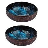 Angoily 2 Piezas Decorativos Cuencos de Coco para Llaves Mesa de Entrada, Cuencos Decorativos para Dulces para...
