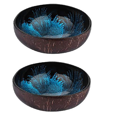 Angoily 2 Piezas Decorativos Cuencos de Coco para Llaves Mesa de Entrada,...