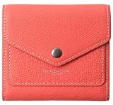 Borgasets Women's RFID Blocking Small Compact Bifold Leather Pocket Wallet Ladies Mini Purse (Crosshatch Red)