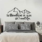 Dalxsh Las Montañas Están Llamando Y Tengo Que Ir Calcomanía De Vinilo En La Pared - Wanderlust Inspirador - Calcomanía De Pared De Montaña 57X30Cm