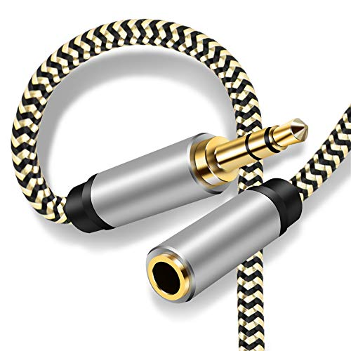 35mm Male to Female Audio Cable 12FtAudio Auxiliary Stereo Extension Audio Cable 35mm Stereo Jack Male to Female Stereo Jack Cord for Phones HeadphonesHome/Car Stereos and More12Ft/4m