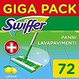 Swiffer Wet Panni Umidi Lavapavimenti per Scopa, Maxi Formato 72 Pezzi, 3 Confezioni da 24...