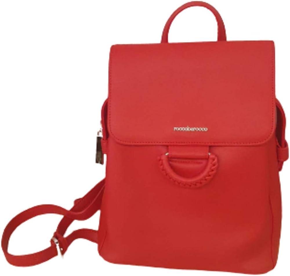 Rocco barocco, borsa zaino ecopelle rossa per donna