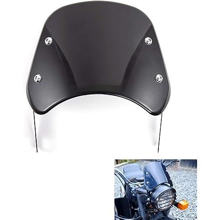 Black DUILU Universal Motorcycle Windshield Wind Deflector Windscreen for Harley Honda Yamaha Kawasaki Suzuki 5-7 Headlight