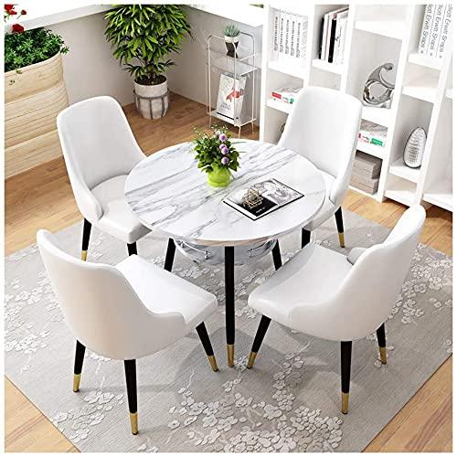 Juego de Mesa de Comedor para Comedor y Cocina, 1 Mesa y 4 sillas Balcón Biblioteca de Oficina Inicio Restaurante Belleza Recepción...