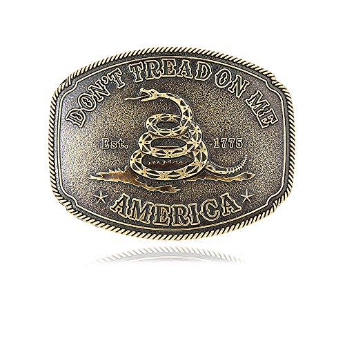 Vintage Belt Buckles for Men Western Cowboy Snake Pattern Belt Buckles