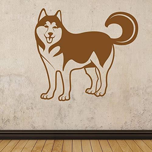 Lustige Hund Muster Wandaufkleber für Wohnkultur Kinderzimmer Wohnzimmer Vinyl Aufkleber Vinyl Decorativos Para Walls 64 * 58 cm
