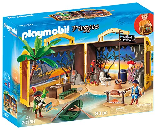 PLAYMOBIL 70150 Pirates Mitnehm-Pirateninsel, bunt