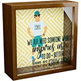 Wall Decor Gifts for Coach | 6x6x2 Memorabilia Shadow Box | Keepsake Box for Sports Coaches | Wooden Picture Frames with Glass Front | Great Gift to Collect Special Memories