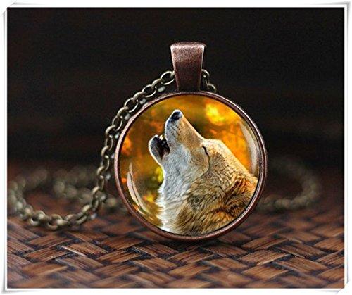 Wolfkette Heulender Wolf Kette Wolf Anhänger Wolf Wolf Schmuck Herbst Kette Spirituose Wolf Heulend Tierschmuck Geschenk