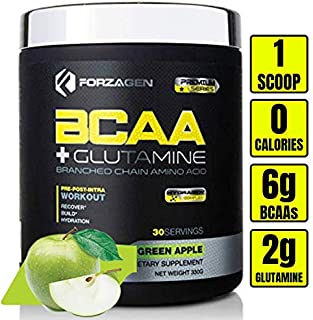 Forzagen Bcaa Powder Workout Recovery - Best BCAA | BCAAS Amino Acids | Electrolytes Keto Friendly | Hydration Powder| Bcaa Supplements | post workout recovery drink | intra workout ( Green Apple)