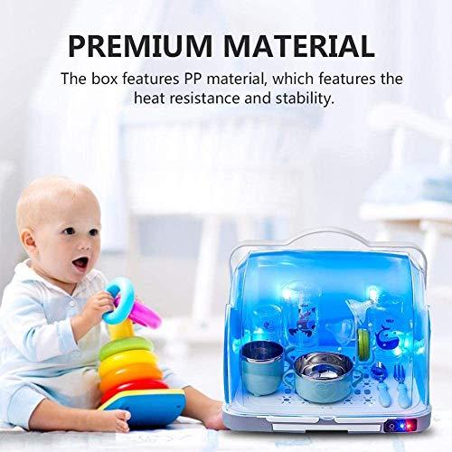 YYSDH 2020 New Baby Bottle stérilisateur à Vapeur Sèche-UV Lait pour bébé Bouteille de désinfection boîte pour la stérilisation, séchage, Lait Warming, Chauffage Alimentation Amovible,Bleu