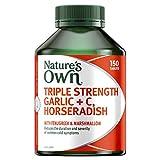 Nature's Own Triple Strength Garlic plus C, Horseradish - Supports immune system function