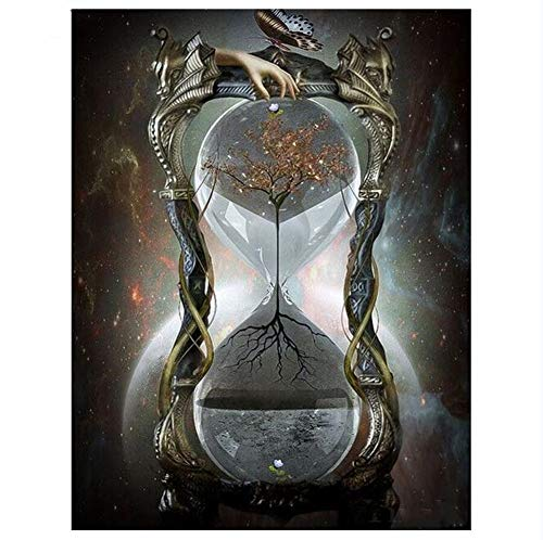 5D DIY Diamond Painting Kits Fantasy Hourglass Full Drill Crystal Rhinestone Canvas Adults Cross Stitch Embroidery Mosaic Pictures Hand Crafts Wall Living Room Home Decoration 40x50cm/16x20in A5067