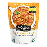 Imagine Culinary Organic Simmer Sauce, Thai Coconut Curry, 10 oz. (Pack of 6), Package may vary