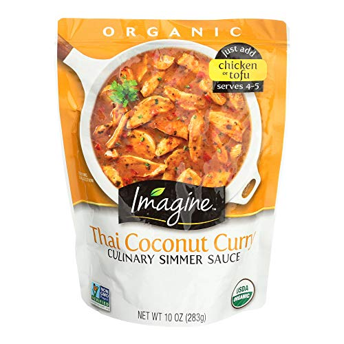 Imagine Culinary Organic Simmer Sauce, Thai Coconut Curry, 10 oz. (Pack of 6), Package may vary (Best South Indian Restaurant In Orlando Fl)