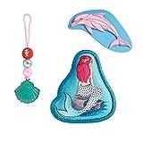 """Step by Step Magic Mags Mermaid"""", 3-teilig, 2 Magnet-Applikationen und 1 Anhänger, als Ergänzung für den Schulranzen oder Vorschulrucksack, für Mädchen"""