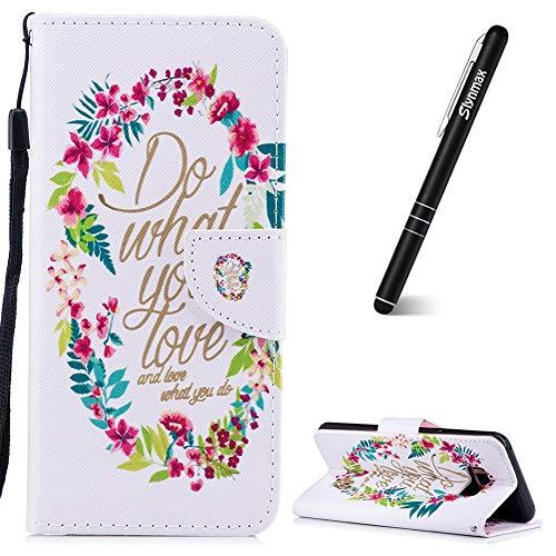 Slynmax - Funda de piel con tapa para Samsung Galaxy S8 Plus (incluye lápiz capacitivo), color negro, Do What You Like