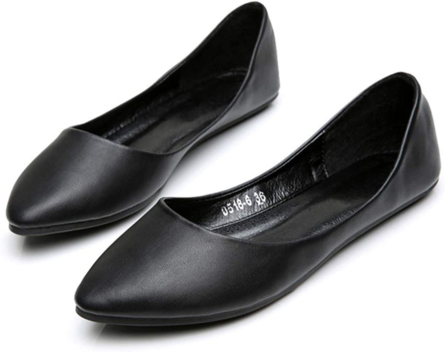 Owen Moll Women Flats, Classic Pointed Toe Slip On Shallow Mouth Ballet Loafers shoes