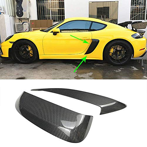 BLH-AMY 2 Piezas Kit De Carrocería De Carbono Guardabarros Tomas De Aire Laterales Aberturas De Ventilación Panel De Cubierta para Porsche 718 Boxster Cayman 2016-2019 Car Styling