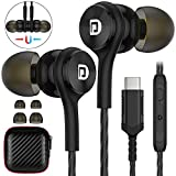 TITACUTE USB Type C Headphones for Galaxy S21 S20 FE Wired Earbuds Magnetic Earphones with Microphone in-Ear Noise Canceling Stereo Earphone for Samsung Note 20 10 OnePlus 9 Pro 9 8T 8 Pixel iPad Pro