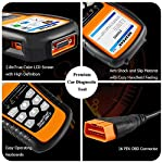 NEXPEAK OBD2 Scanner NX501 Enhanced OBD II Auto Code Reader Car Diagnostic Scan Tool Vehicle Check Engine Light Analyzer… 14 【Professional Vehicle Code Reader】 NEXPEAK NX501 is an enhanced auto scanner that you can NOT ONLY check all engine related fault codes, find out what caused the check engine light comes on, turn-off Malfunction Indicator Lamp (MIL), locate bad O2 sensor, but also can monitor car battery health status, remind you when the battery need to be replaced. It's a perfect scan tool helps you to determine if your car need to be repaired and avoid blind maintenance, saves your time and money. 【Wide Array of Compatibility】 Accurately read and erase error codes on all OBD2 protocol vehicles with a 16 PIN interface (KWP2000, ISO9141, J1850 VPW, J1850 PWM and CAN). The NEXPEAK NX501 is compatible with most US vehicles that are model year 1996 or later – including sedans, SUVs, light trucks, and 12V diesels. This is a plug-and-play engine diagnostic code reader (both generic and manufacturer specific codes) – no extra batteries or apps required. 【NOT ONLY Full OBD2 Function】 All 10 modes OBD2 diagnostic function including: read and erase fault codes, retrieve I/M readiness and freeze frame data. Unique graphical forms to display live sensor data, Auto VIN acquisition, O2 Sensor and EVAP Test (Mode 8), Advanced On-board Monitoring (Mode 6). This auto analyzer can not only reveal what error codes your car is producing, but also monitor the battery voltage at all time during OBD car diagnostic, reminds you when having an aging battery