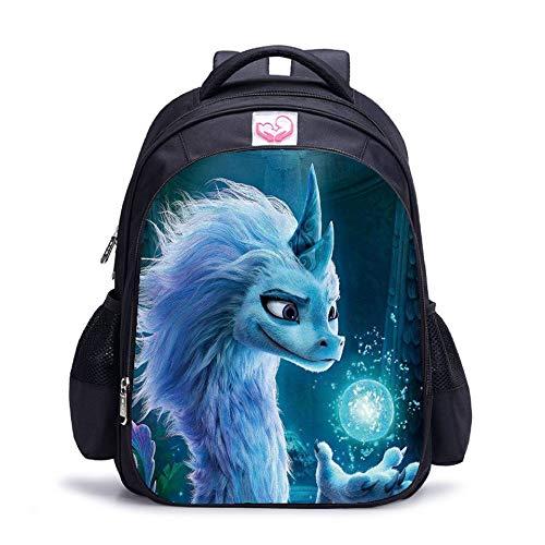 Mochila para niños Raya y el último dragón, mochila escolar, bolsa de almuerzo para estudiantes, 5, S, bolso