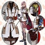 コスプレ衣装♪FF13 ファイナルファンタジーXIII ライトニング風 ウイッグ付き サイズ指定可
