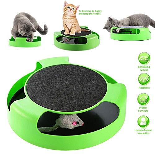 Gatto gattino cattura il topo giocattolo peluche in movimento, gattino cattura peluche topo gatto giocattolo in movimento artiglio cura graffio tappetino gioca giocattolo, graffio interattivo