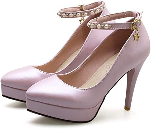 VIVIOO Chaussures pour Femmes Printemps été Simple Boucle Partie Mariage Mariage Chaussures Bout Pointu Chaussures à Talons Hauts  différentes tailles