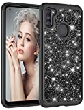 Compatible with Samsung Galaxy A21 Case Hard Plastic Cover for Samsung Galaxy A21 Glitter Bling Sparkle Cute Case, for Samsung Galaxy A21 Scratch-Resistant Shockproof Protective Cover for Samsung A21