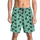 YUESJX - Bañador de secado rápido para hombre, bañador, bañador, verano, playa, surf, boxer Azul azul celeste L