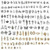 Ciondoli Misti 150 Pezzi Assortiti Pendenti in Oro Antico Argento, Ciondoli di Creazione di Gioielli Fai da Te Bigiotteria Charm per Bracciale, Collana, Orecchini, Portachiavi