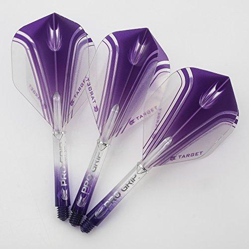 PerfectDarts 5 X Définit Pro Grip Vision Potence Pro V Flight Courte Violet Combo Cible