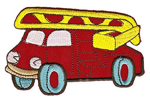 Feuerwehrauto Comic Aufnäher Bügelbild