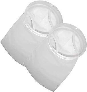 Honritone 7 Inch Ring Filter Sock - by 18 Inch Long - 2 Pack - Felt Filter Bag for Industrial, Aquarium Sump, Pond, Fish T...