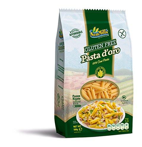Pasta d´oro – Glutenfreie Nudeln (Penne Rigate) aus Maismehl | 500 g Packung
