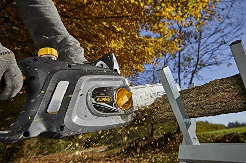 Alpina Motosega elettrica ACS 180 E (14)'',Barra di taglio 35 cm (14''), 1800 W, Velocità catena 10 m/s, Tensionamento laterale, Pompa olio automatica, Freno manuale e inerziale