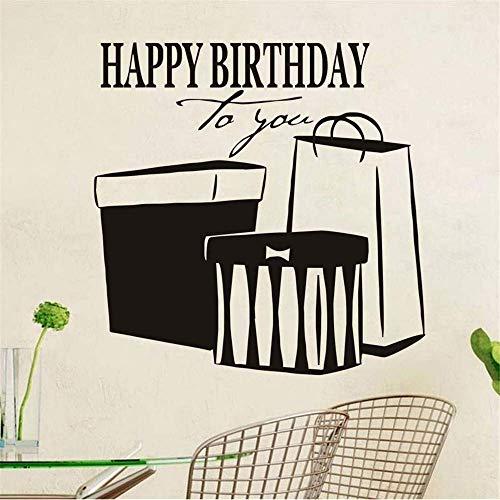Feliz Cumpleaños A Ti Etiqueta De La Pared Impermeable Etiqueta De Arte Ahueca Hacia Fuera Vinilo Extraíble Pegatinas Moda Regalo Decoración Del Hogar
