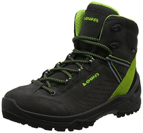 Lowa Unisex-Kinder Arco GTX Mid Ju Trekking- & Wanderstiefel, Grau (Anthrazit/Limone 9702), 39 EU