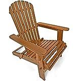 Sonnenstuhl Adirondack Akazienholz klappbar abgerundete Armlehnen Deckchair Liegestuhl Holzstuhl Gartenstuhl - 2