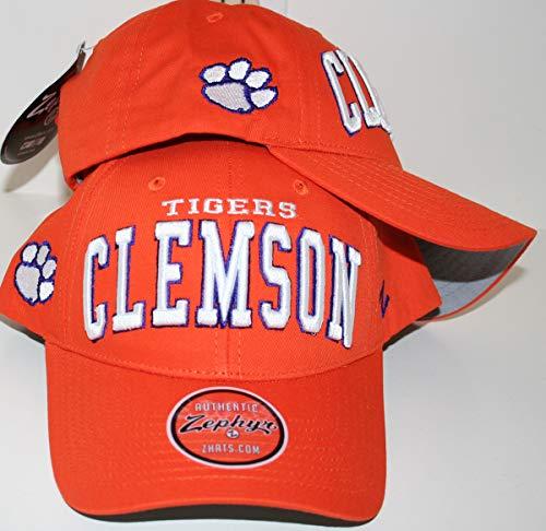 Clemson University Tigers Clemson Tigers Orange Broadcast Top Cotton Mens/Womens Adjustable Baseball Hat/Cap