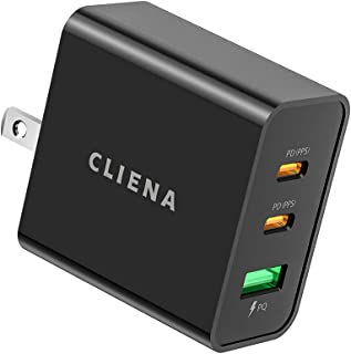[Amazon限定ブランド]CLIENA PD急速充電器 65W PD 新規格PPS(Programmable Power Supply) GaN (窒化ガリウム)採用 折り畳み式プラグ USB-C ×2ポート+USB-A ×1ポート iPho...