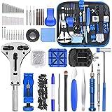 ETEPON Kit de Réparation de Montre, 185pcs Ensemble d'outils de Barre de Ressort Professionnel, Outil de Réparation de Montre Réglable pour la Plupart des Montres